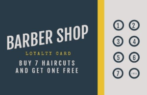 Loyalty program card for barbers