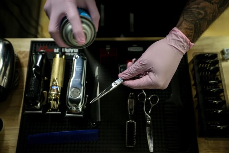 Barber disinfecting tools