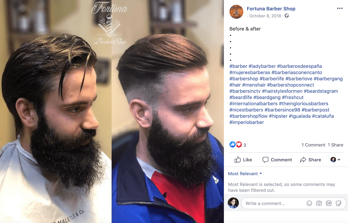 Barber pictures before and after