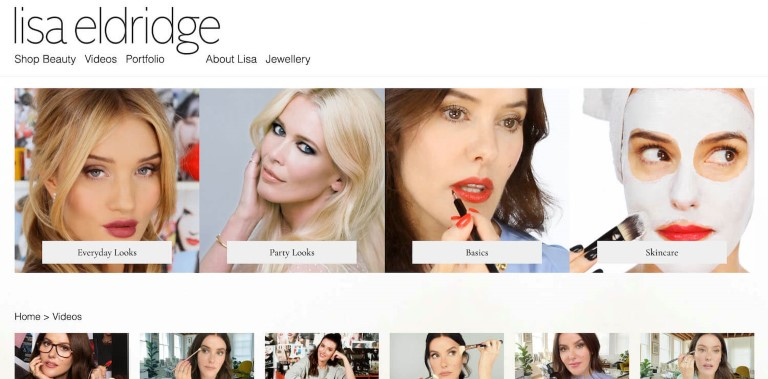 Lisa Eldridge website