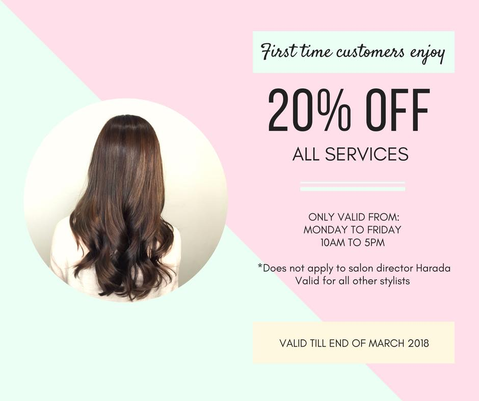 Hair salon discounts for new clients