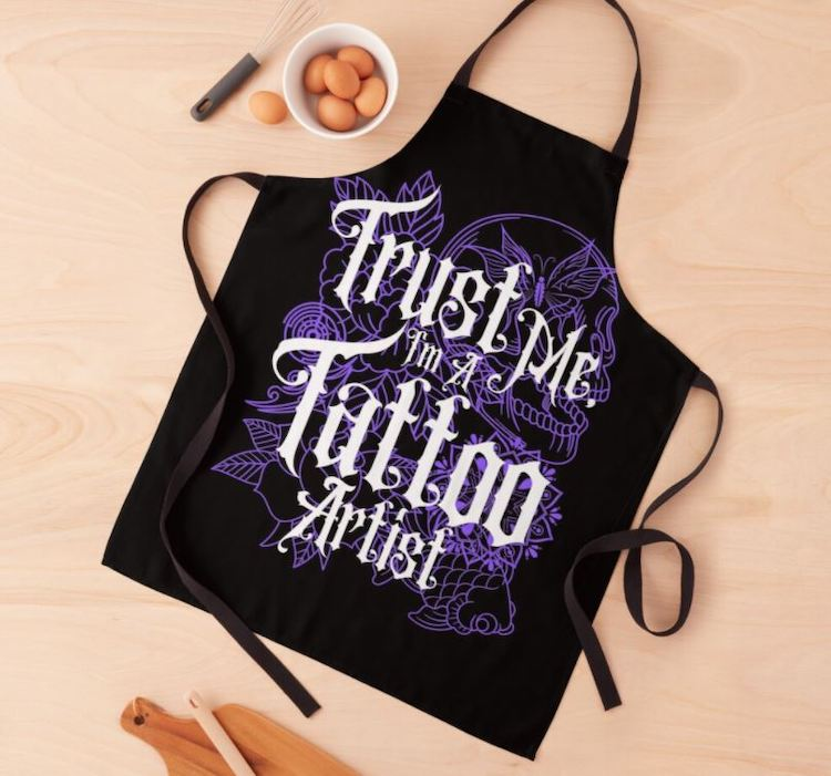 personalized apron gift for tattoo artists