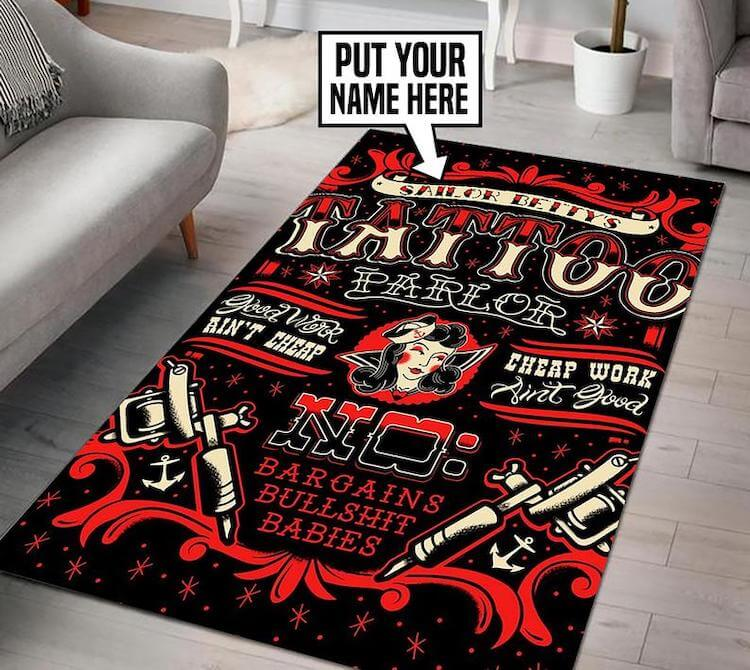 rug gift idea for tattoo artists