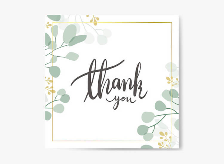 thank you card for therapists