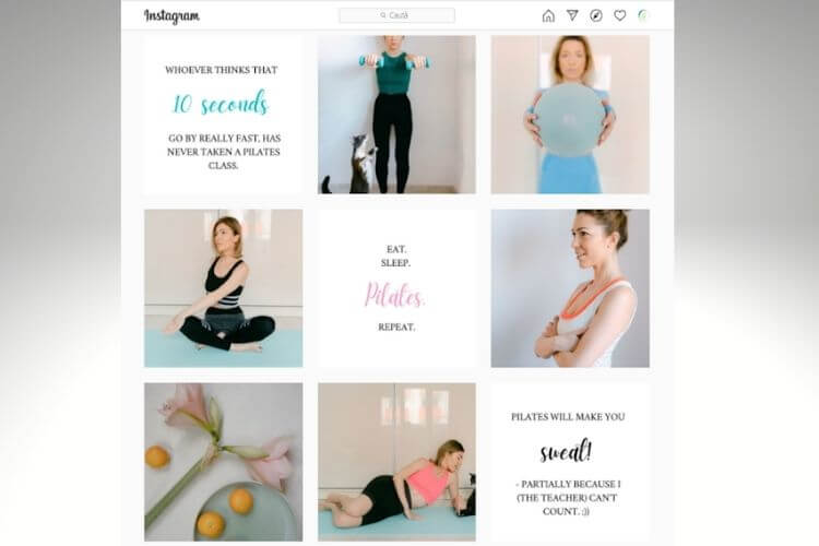 instagram feed fitness trainer
